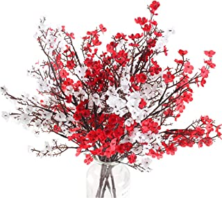 NAHUAA 4PCS Babys Breath Artificial Flowers Bushes Fake Silk Real Touch Floral Bouquet Home Office Farmhouse Wedding Cente...
