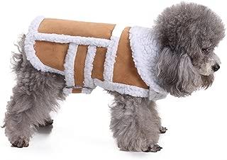 RYPET Small Dog Winter Coat - Shearling Fleece Dog Warm Coat for Small to Medium Breeds Dog