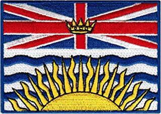 British Columbia Flag Embroidered Patch Canadian Province Iron-On Canada National Emblem