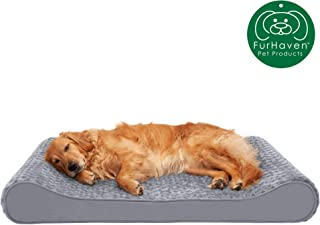 Furhaven Pet Dog Bed | Orthopedic Ergonomic Luxe Lounger Cradle Mattress Pet Bed w/ Removable Cover for Dogs & Cats - Available in Multiple Colors & Styles