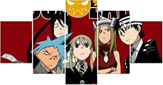 Darona Soul Eater Poster 5 Pieces Manga Anime Posters Wall Art Frameless Pictures for Wall Art Decoration