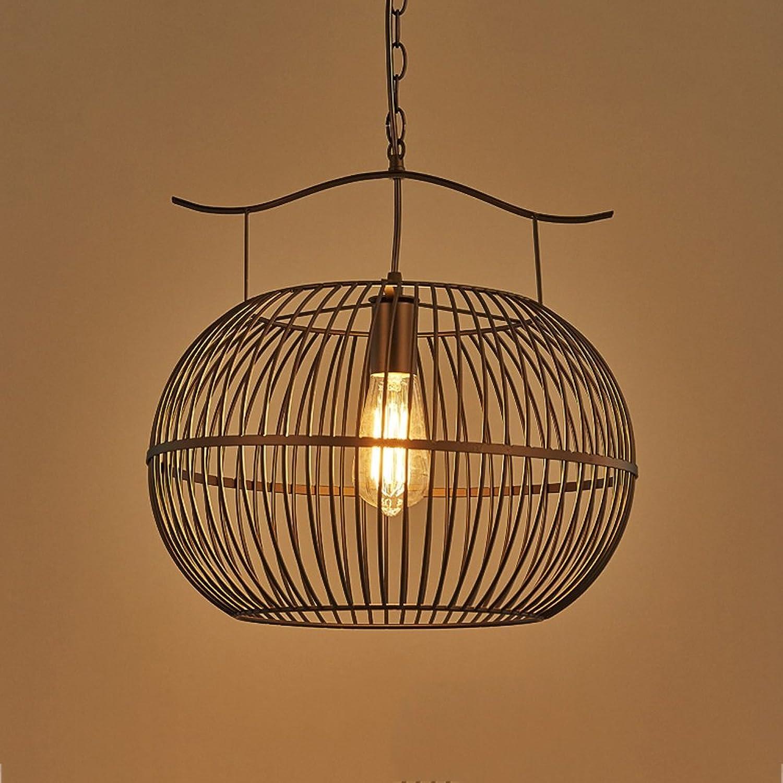 Pointhx Style industriel Fer à Une Tête Noire Lampe Suspendue Américain Rétro Edison E27 Suspension Lustre Cuisine Restaurant Décoration Plafonnier pendentif Lamp (Taille   S)