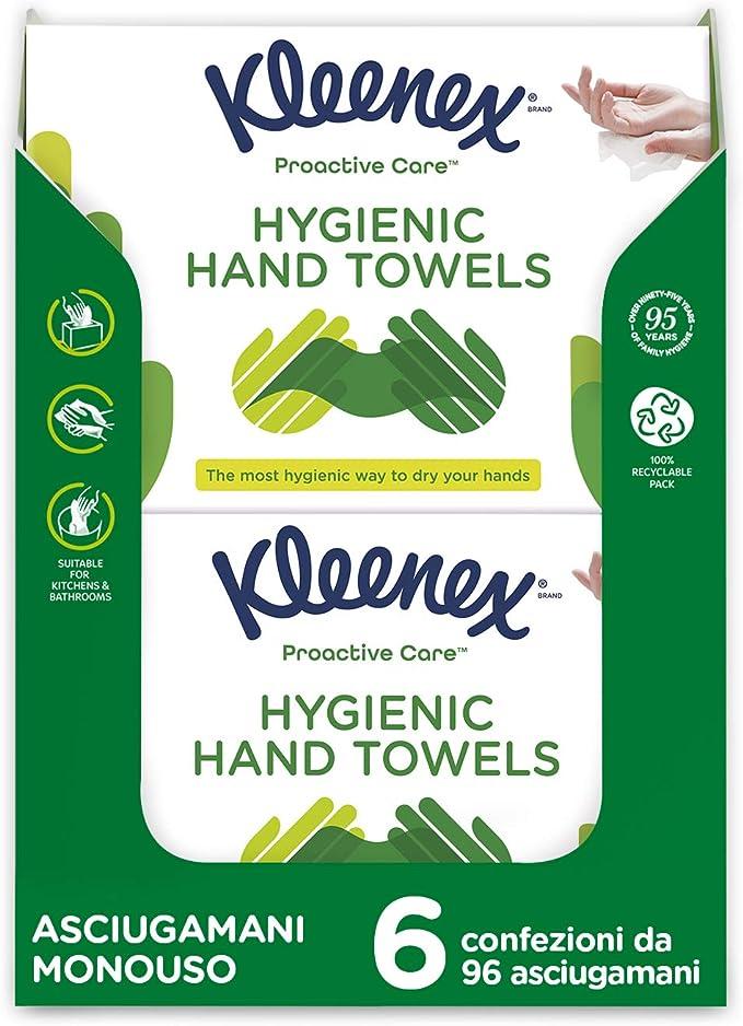 98 opinioni per Kleenex Proactive Care Asciugamani Usa e Getta, 596 Asciugamani- 6 Pacchi da 96