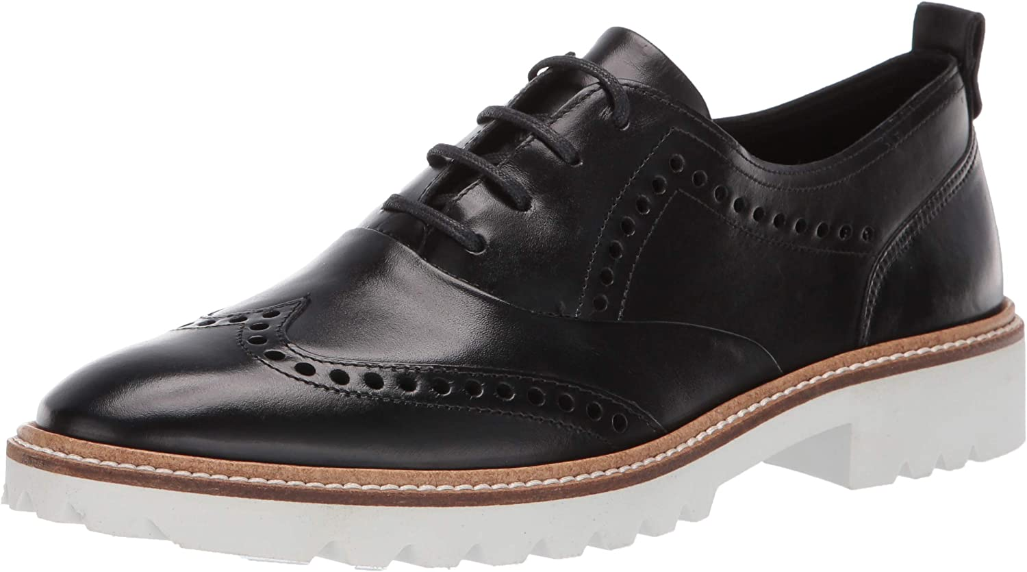 ECCO Womens Incise Tailored Wing Tip Oxford Flat