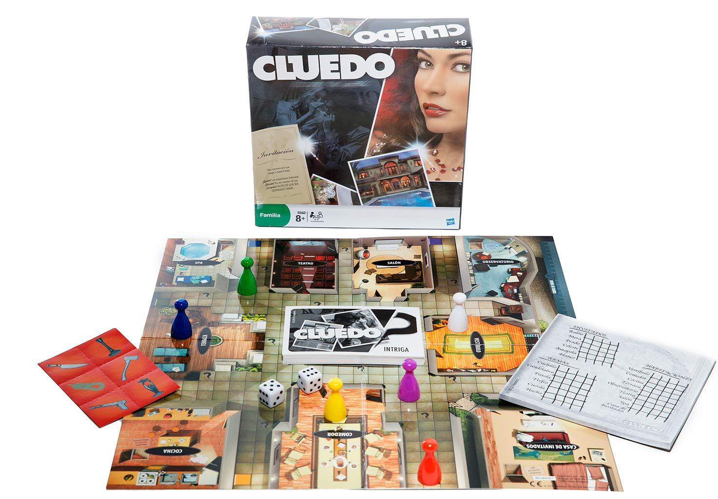 Llorens Hasbro - Cluedo, edición de Viaje: Amazon.es: Juguetes y juegos