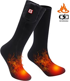 SVPRO Rechargeable Electric Heated Socks Battery Powered Comfortable Thermo-Socks,Cold Weather Thermal Socks Sport Outdoor Camping Hiking Warm Winter Socks for Men Women