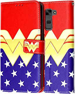LG Stylo 2 PLUS Wallet Case, DURARMOR LG Stylus 2 Plus [Kickstand] Wonder Woman Leather Folio Wallet Case with ID Credit Card Cash Slots Flip Stand Cover Case for MS550 Wonder Woman Wallet