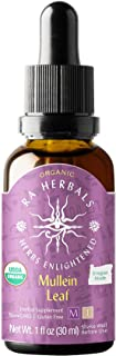 Ra Herbals Certified Organic Mullein Leaf Liquid Extract for Respiratory System Support - 1 Ounce