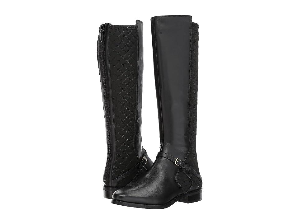 Cole Haan Imogene Boot II (Black Leather/Black Stretch) Women