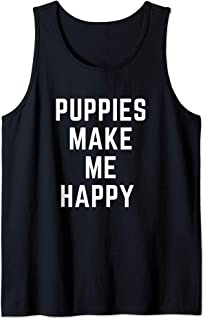 puppies make me happy tank