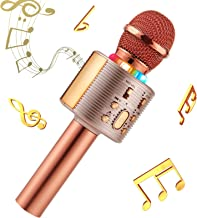 Karaoke-Mikrofon, Bluetooth, kabellos, Karaoke-Mikrofon für kinder, paarbar für Duetten..