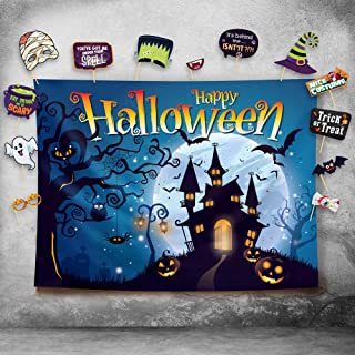 Happy Halloween Photography Backdrop and Studio Props DIY Kit. Great as Photo Booth Background, Costume Dress-up Party Sup...