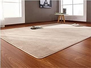 Solid Memory Foam Chair Mat Rug for Bedroom Rugs Mats Doormat Big Rectangle Carpet for Living Room,Camel,120X160cm