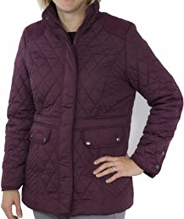 totes Women's Mid Length Quilted Jacket Fig