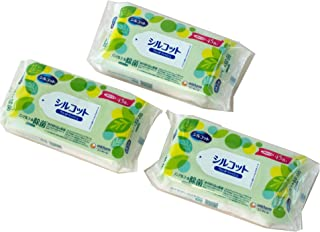 AC4YN-210868-3P ユニ・チャーム ノンアルコール除菌 ウェットティッシュ シルコット 無香料パラベンフリー つめかえ用 45枚入×3個セット