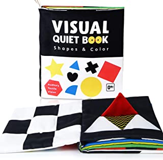 Soft Baby Books, High Contrast Black and White Books Non...