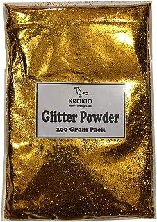 Krokio, Glitter Sparkle Powder, Multiple Use Pack of 100 Gram (Golden)