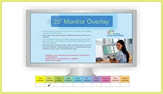 Crossbow Education 23-Inch Widescreen Monitor Overlay - Celery