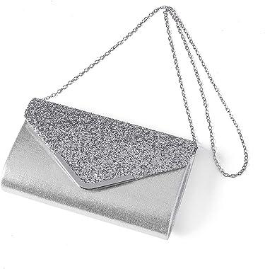 Kadell Abendtasche mit Umschlag für Damen, modische Kette
