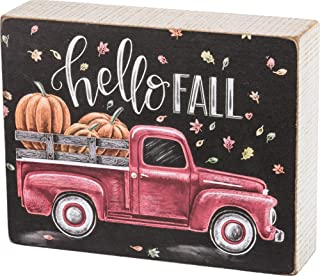 Primitives by Kathy Chalk Art Box Sign, Hello Fall
