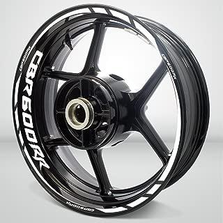 Gloss White Motorcycle Rim Wheel Decal Accessory Sticker For Honda CBR 600RR