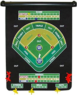Magnetic Baseball Theme Dart Set Comes with 6 Magnetic Darts, Multi