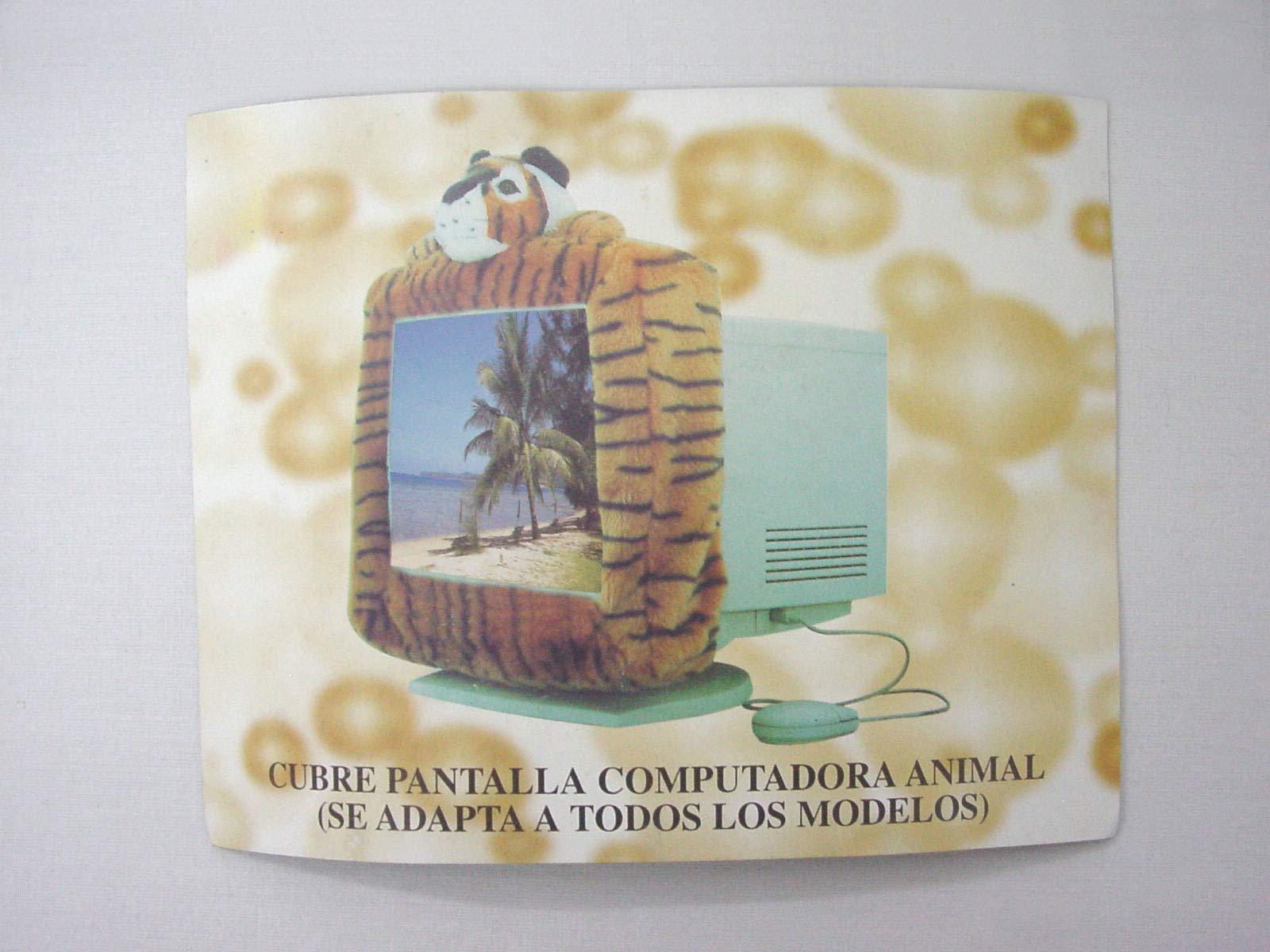 Cubre Borde Monitor Ordenador Pantalla TELEVISOR Television Elastico Adaptable Infantil Animal Tigre Naranja: Amazon.es: Hogar