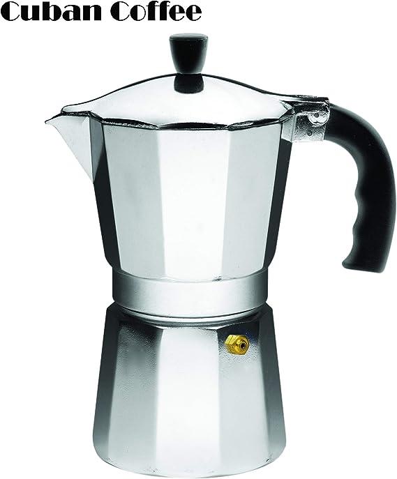 IMUSA USA B120-43V Aluminum Espresso Stovetop Espresso Maker 6-cup