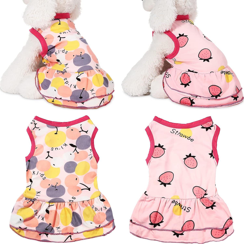 Kansas City Mall 2 Pieces Small Dog Dress Summer Pet Cute Dre Tutu Princess Weekly update