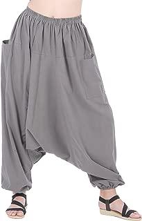 Men Women Cotton Baggy Hippie Boho Gypsy Aladdin Yoga Harem Pants