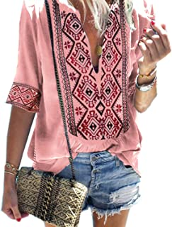 Best ladies embroidered t shirts Reviews