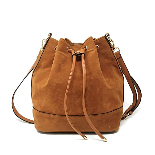 Drawstring Bucket Bag for Women Large Crossbody Purse and Shoulder Bag  Suede Tote Handbags 3496dc59d7756