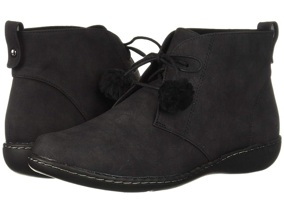 Soft Style Jinger (Black Nubuck) Women