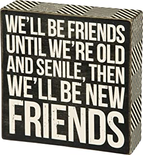Primitives by Kathy Classic Box Sign, New Friends (30638)