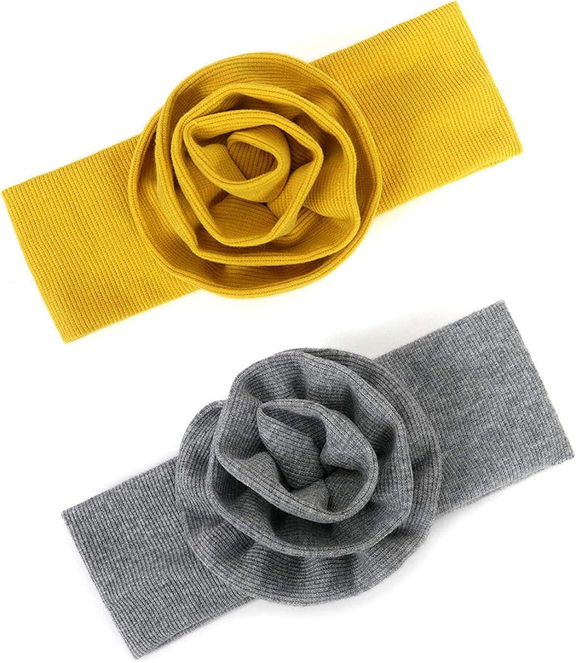 YONGYAN 2 PCS Baby National products Girl Big Max 47% OFF Flower Headbands Soft Bands Elastics
