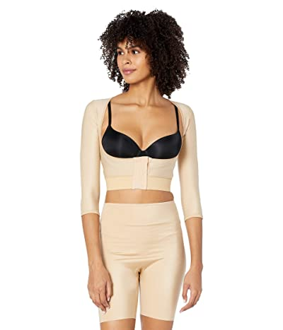 InstantRecoveryMD Underbust Crop Top with Front Zipper Shapewear Compression Body Shaper Post Surgical Support (Nude) Women