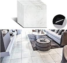 Livelynine Peel and Stick Floor Tile 12x12 Inch 16 Pack Grey Marble Vinyl Flooring Stick On Tile Waterproof Flooring Tile Stickers for Bedroom Kitchen Laundry Backsplash