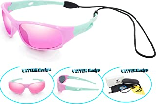 8c770d0f7226 VATTER TR90 Unbreakable Polarized Sport Sunglasses For Kids Boys Girls Youth