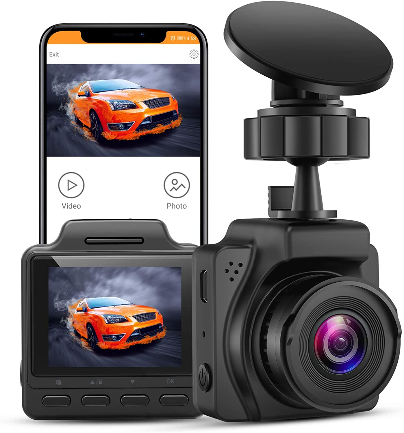 Small Dashcam for Cars 2K UHD 30FPS Ranking TOP20 4K Outlet SALE B2K Dashbo Blueskysea Max