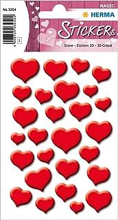 Herma Magic Etiket Stone Kırmızı Kalpler