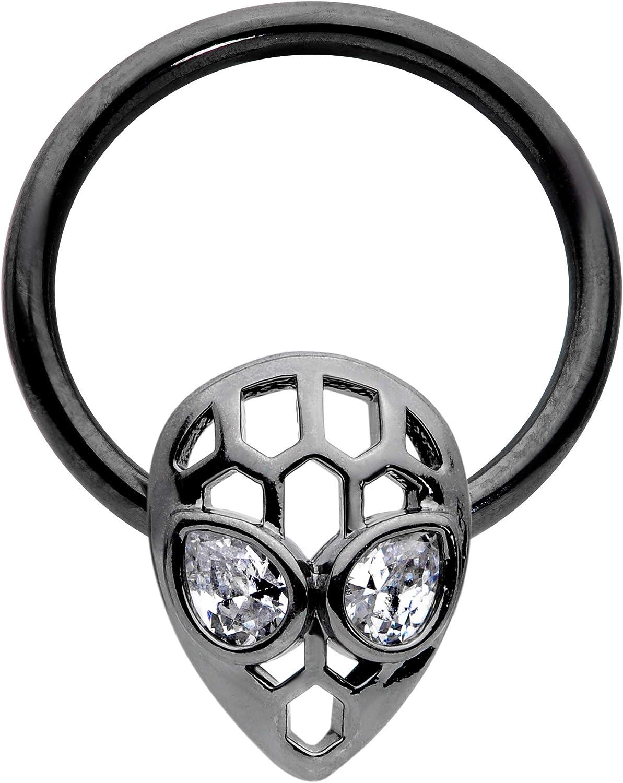 Body Candy 16G Steel Hinged Segment Ring Seamless Septum Piercing Cartilage Earring Alien Nose Hoop 3/8