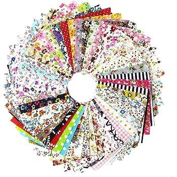 amazon com 50pcs 1010cm fabric patchwork craft cotton