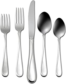 bec7fb71c4 Oneida Flight 45 Piece Casual Flatware Set