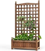 garden planters with trellis