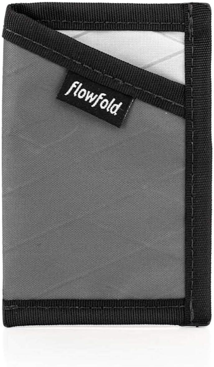 Flowfold RFID Blocking Minimalist Card Holder Durable Slim Wallet Front Pocket Wallet, Card Holder Wallet Made in USA (Grey)