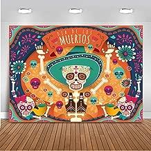 Mocsicka Dia De Los Muertos Backdrop Mexican Day of The Dead Party Background 7x5ft Vinyl Mexico Fiesta Day of The Dead Banner Backdrops