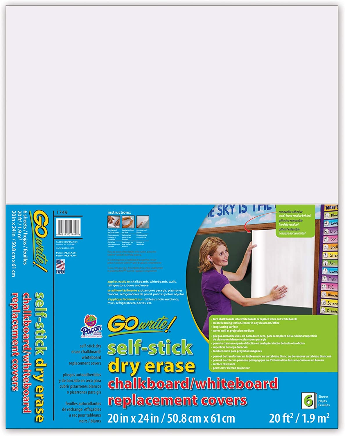 Max 45% OFF GoWrite Dry Erase Self-Adhesive Board Covers Replacement Trust 20