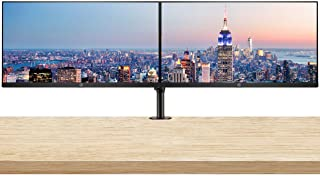 HP P274 27 Inch IPS LED Backlit Monitor (5QG36A8#ABA) 2-Pack Display Bundle with Fully Adjustable Dual Monitor and Desk Mount Clamp