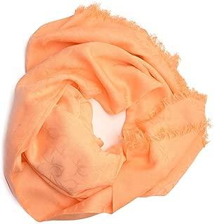 Ck Womens Logo Pashmina Wrap Med Orange