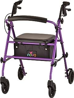 NOVA Journey Steel Rollator Walker, Purple